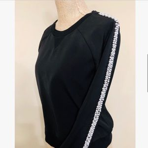 JUICY COUTURE Black Pearl Embellished Sweater
